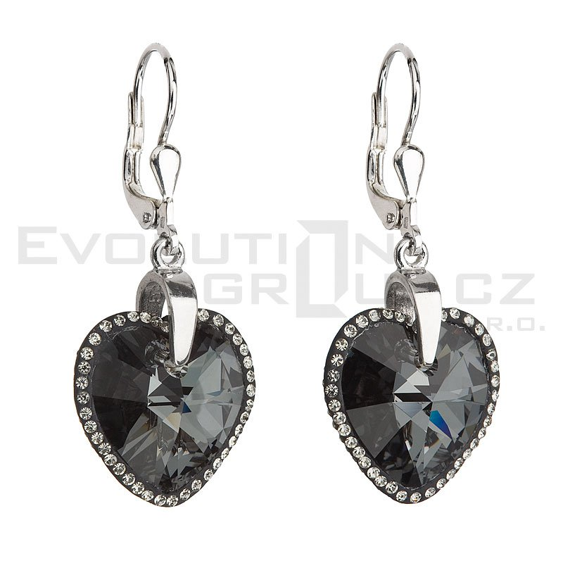 Kolczyki SWAROVSKI ELEMENTS 31148.3 silver night