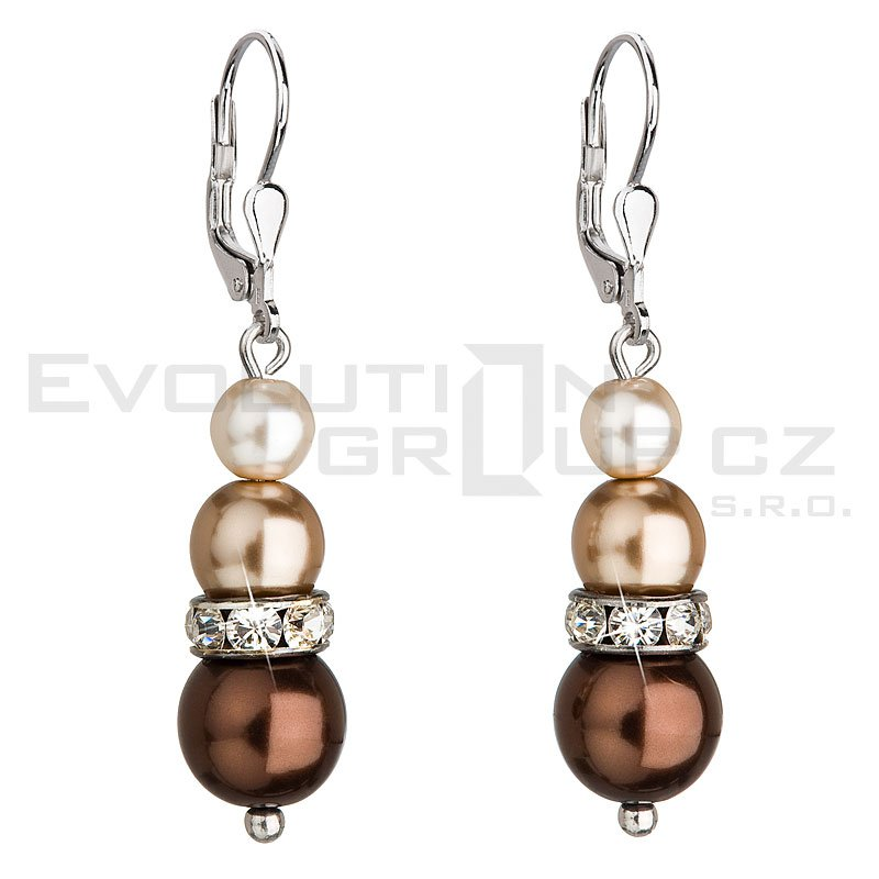 Kolczyki SWAROVSKI ELEMENTS 31150.3 brown