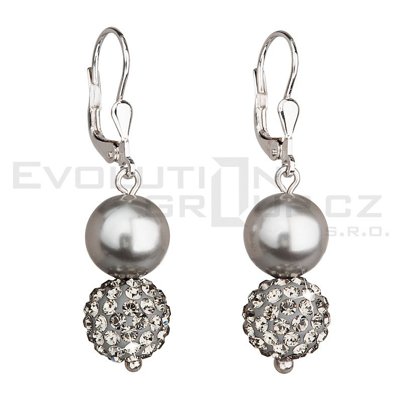 Kolczyki SWAROVSKI ELEMENTS 31155.3 light grey