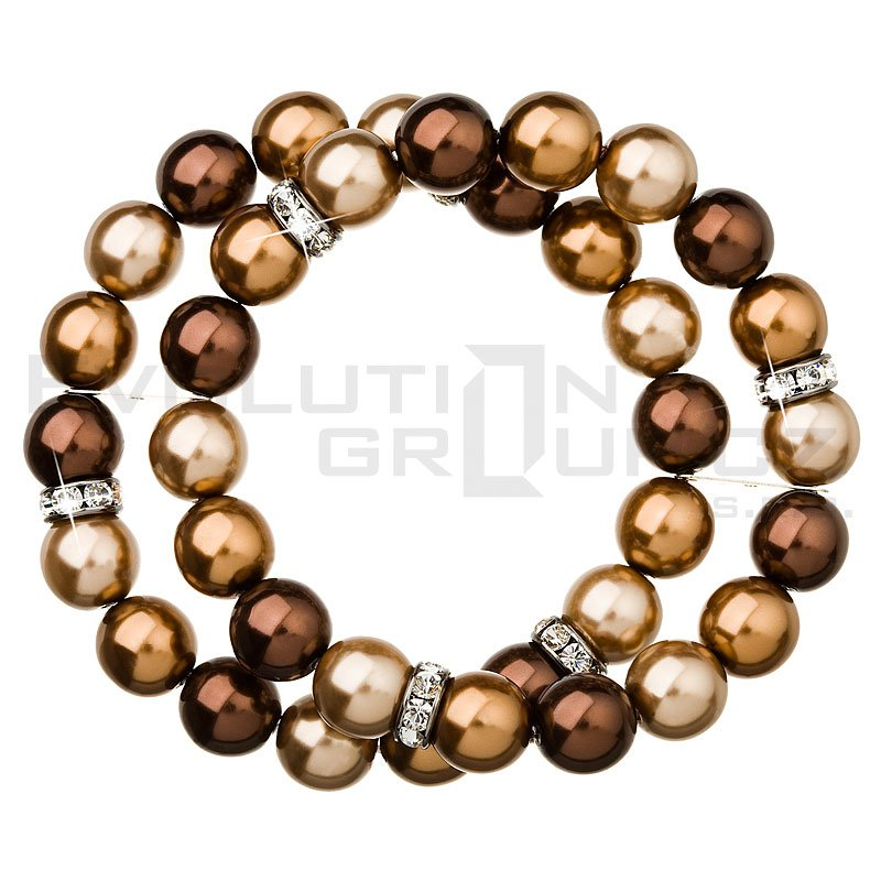 Bransoletka SWAROVSKI ELEMENTS 33065.3 brown