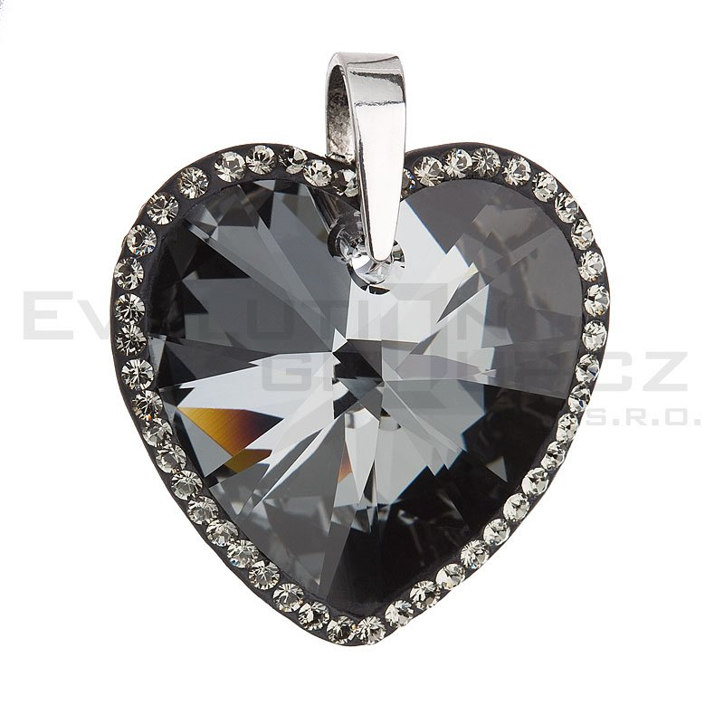Wisiorek SWAROVSKI ELEMENTS 34138.5 silver night
