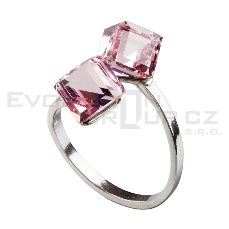 Pierścionek SWAROVSKI ELEMENTS 35011.3 lt.rose